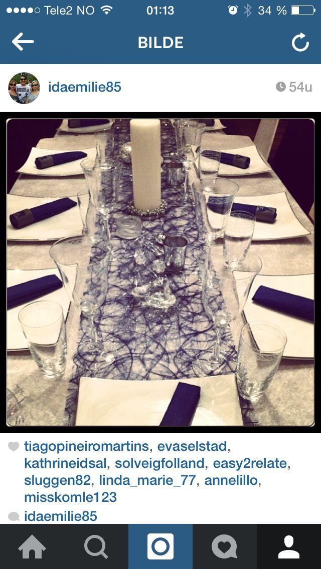 Blått, marine,bord dekorasjon,nyttår,vinter