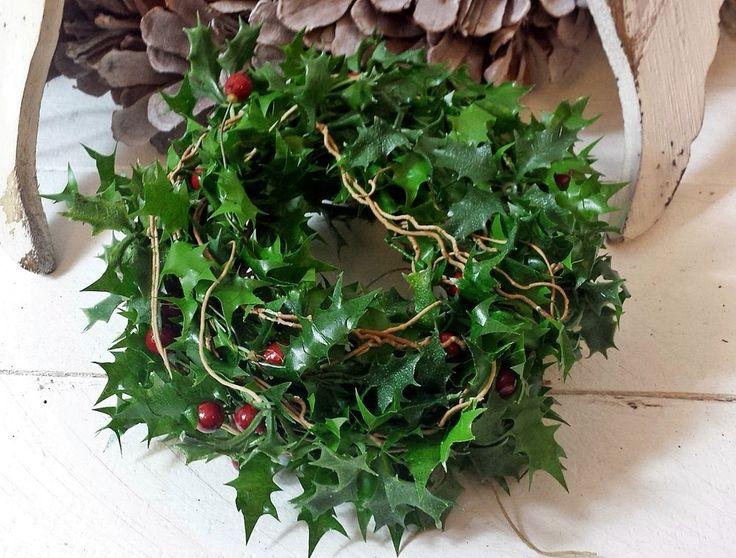 1m Ilex Ilexgirlande rote Beeren Stechpalme Weihnachten Advent Blattgirlande