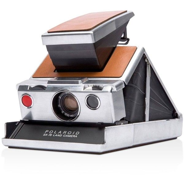 Polaroid Originals Sx-70 Original Instant Film Camera ($399) ❤ liked on Polyvore featuring men's fashion and silver brown