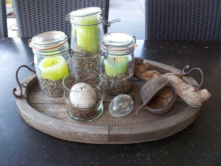 Decoratie voor op de tuintafel eenvoudig zelf te maken for Decoratie bruiloft zelf maken