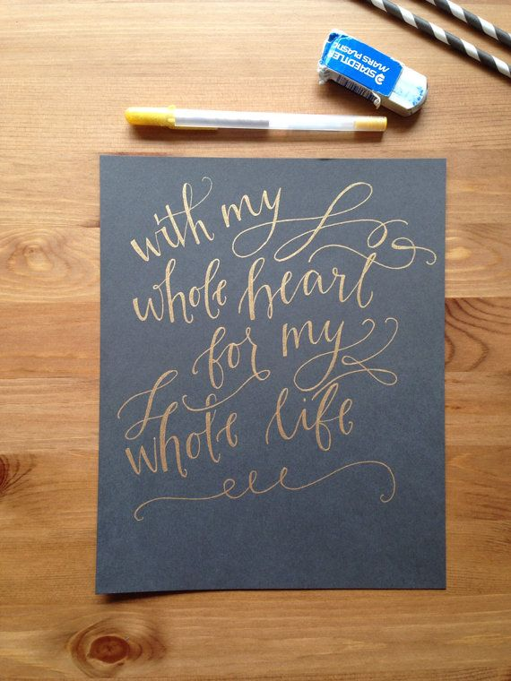 Custom Calligraphy Hand Lettered Print Small Your