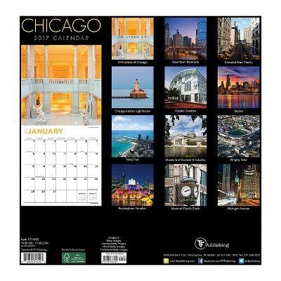 Chicago 2017 Calendar (Paperback)