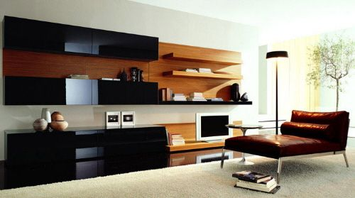 Time Entertainment Wall Unit from Besana