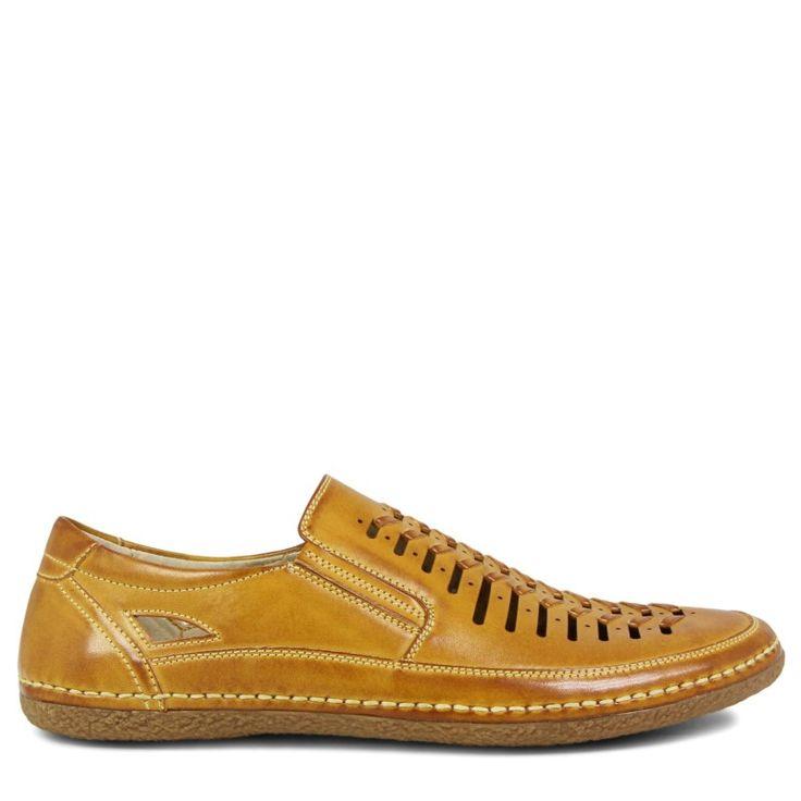 Stacy Adams Men's Naples Moc Toe Slip On Shoes (Natural) - 11.5 M