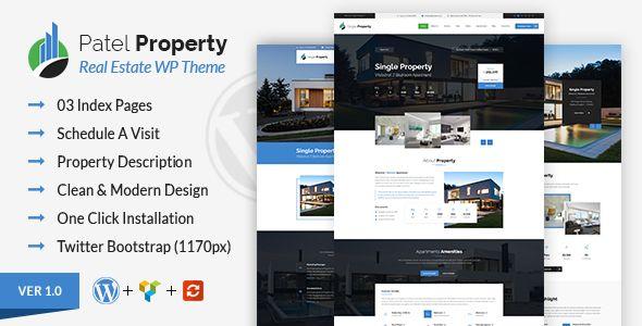 Patel V1 1 Single Property Real Estate Premium WordPress Theme Flyer Template