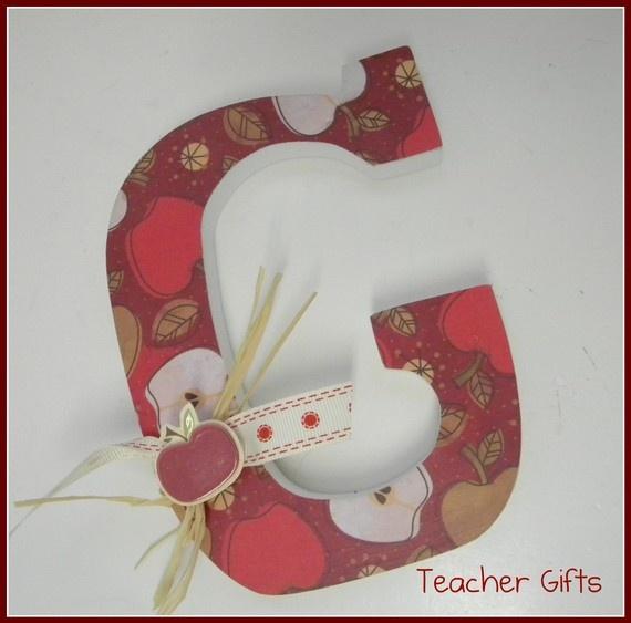 Wooden Letter Teacher Gift  Six inch free by dwellingonline, $7.50