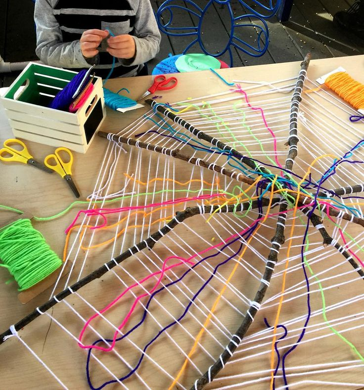 "909 Likes, 38 Comments - Deborah J. Stewart (@teachpreschool) on Instagram: ""Lots of folks wondered about our spider weaving web. Miss @lololeopard created this web with sticks…"""