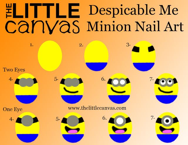 Despicable Me Minion Nails :)