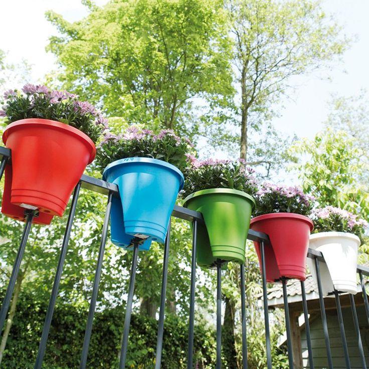 Have to have it. Corsica Elho Round Resin Bridge Flower Planter - Set of 2 - $26.99 @hayneedle.com