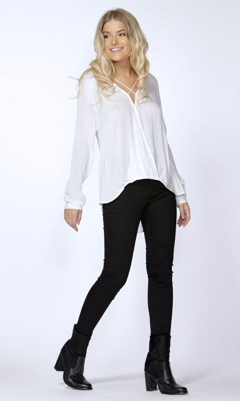 Sass - Marisa Cross Over Blouse By