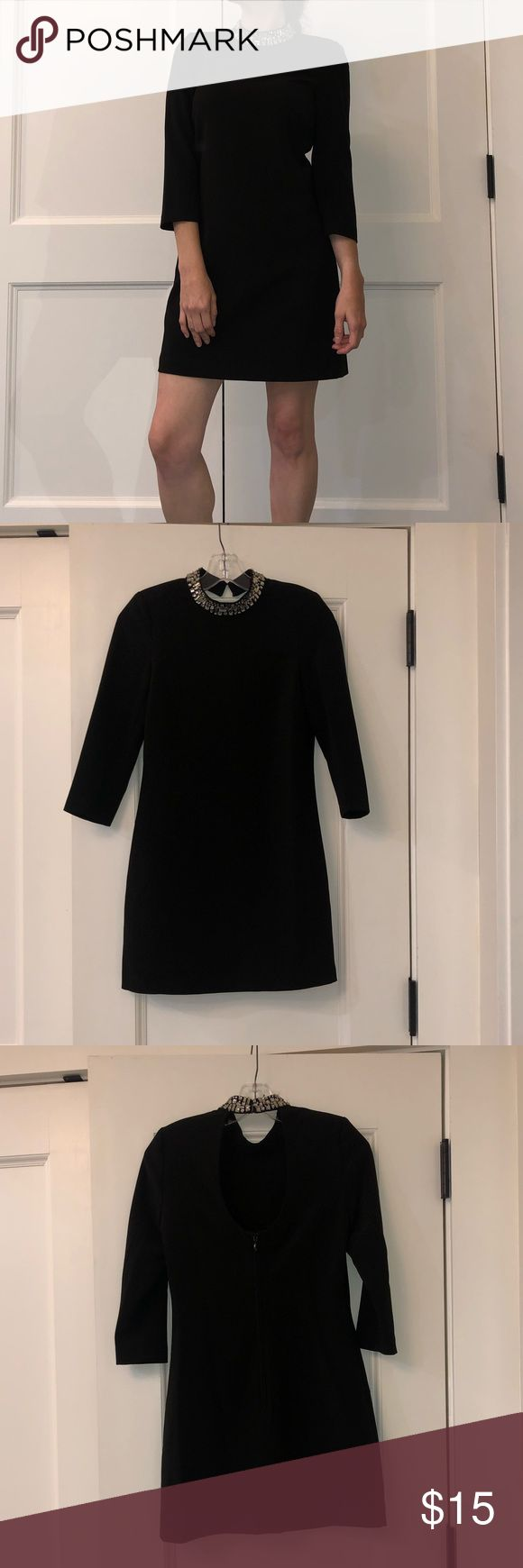 H&M Little Black Dress Little black embellished neck classic race party dress Th... 2