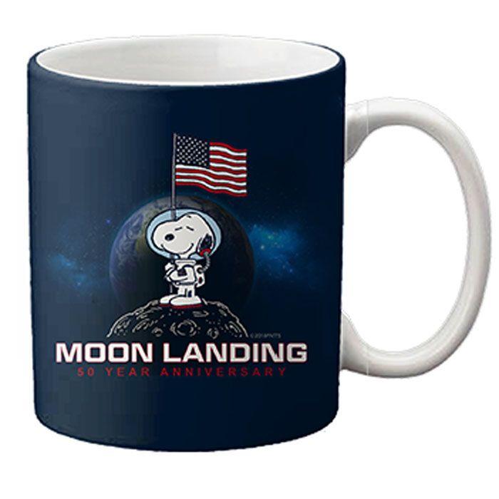 Ceramic Mug Snoopy 1969 Moon Landing 50 Years Ago On July 21