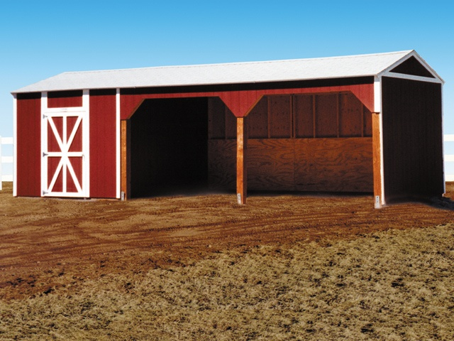 Are You Country Living? If So, Look At This Premier Tall Ranch Loafing Shed