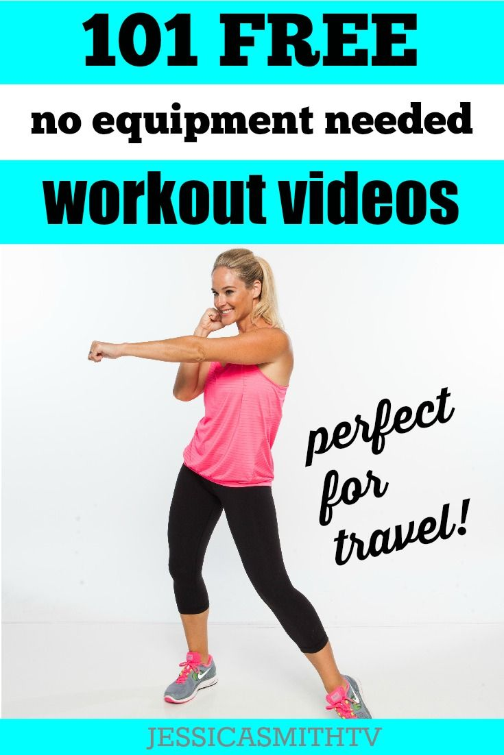 Work out anytime, anywhere with these free bodyweight exercise videos on…