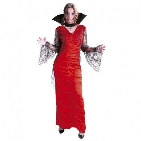 Disfraces Halloween mujer| Disfraz de reina araña. Contiene vestido con mangas de gasa y cuello con gargantilla negra. Talla M. 17,95€ #reina #araña #reinaaraña #disfrazreina #disfrazaraña #disfraz #halloween #disfrazhalloween #disfraces