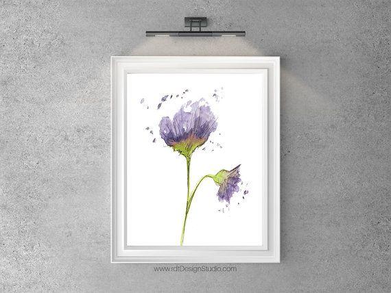 Estampado de flores púrpura decoración moderna arte de la
