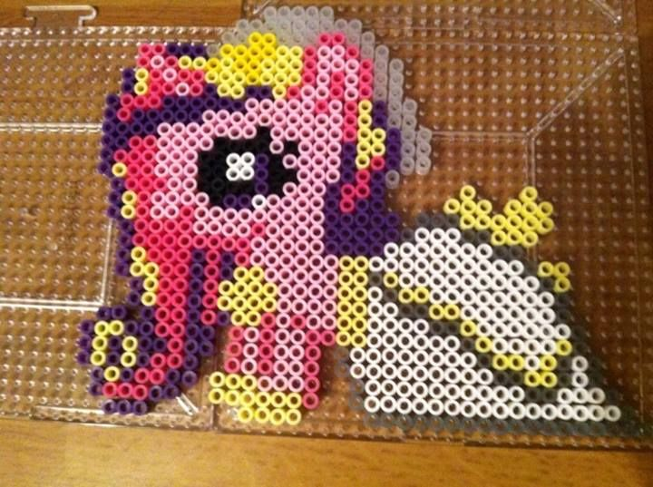 Mlp Princess Cadance Perler Beads By Khoriana On Deviantart Perler