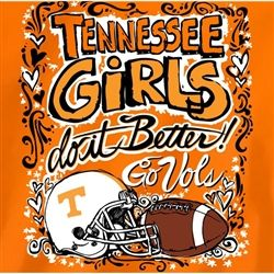 Tennessee Vols Football T-Shirts - Tennessee Girls Do It Better