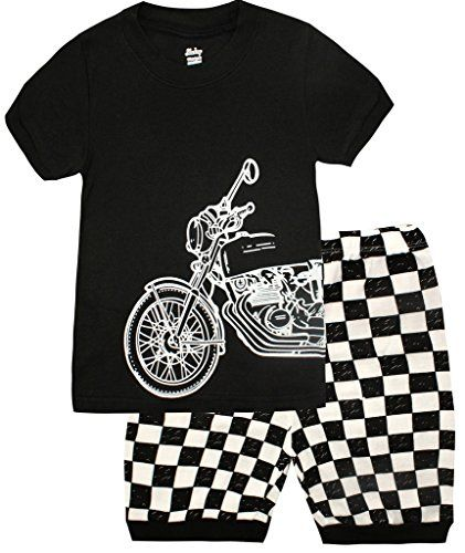 Boys Pajamas Motorcycle Kids Clothes Short Sets Size 2T-7 *** LEARN MORE @ http://www.catscratchmed.com/festiveseasonal_store/boys-pajamas-motorcycle-kids-clothes-short-sets-size-2t-7/?a=8742
