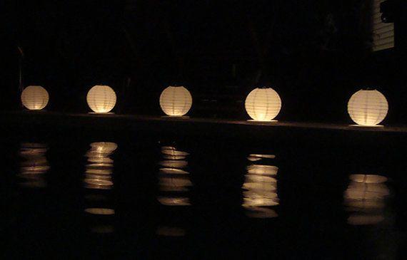 Floating paper lanterns 5 pack by GlobosDeLuz on Etsy, $22.00