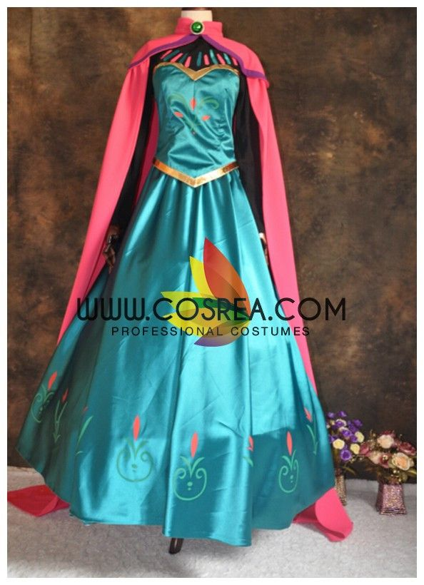 Frozen Elsa Coronation Classic Satin Cosplay Costume