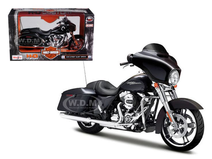 diecastmodelswholesale - 2015 Harley Davidson Street Glide Black 1/12 Motorcycle Model by Maisto, $10.49 (http://www.diecastmodelswholesale.com/2015-harley-davidson-street-glide-black-1-12-motorcycle-model-by-maisto/)
