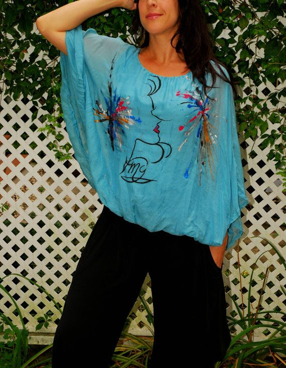 """Happiness is a woman""""Silk Top"""
