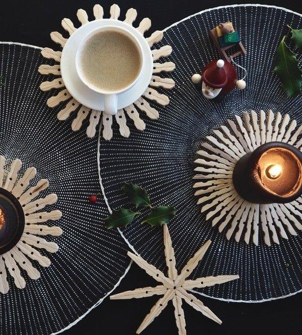 Dezente+Weihnachtsdeko+oder+Untersetzer+–+DIY+Holzsterne
