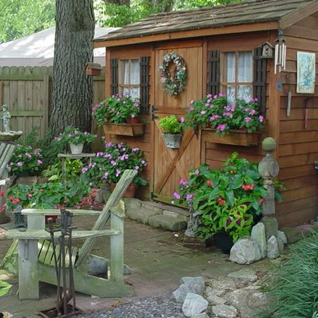 1147 best Garden sheds images on Pinterest | Backyard garden ideas ...
