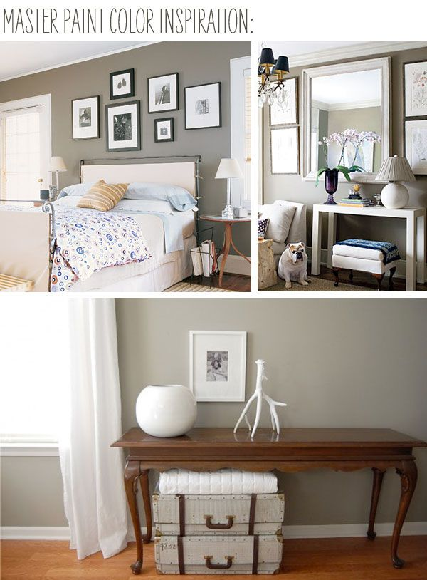 Liking this gray beige color bedroom design ideas for Waynesboro taupe benjamin moore