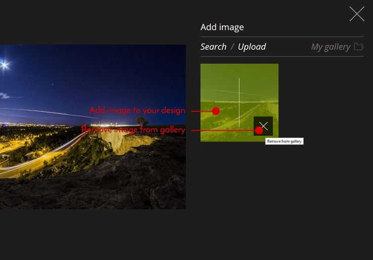 How to remove an #image from 'My Gallery' on @ Pixteller.