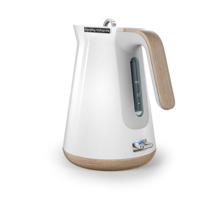 Morphy Richards 100005 Aspect White with Wood Trim Kettle | Electric Kettles