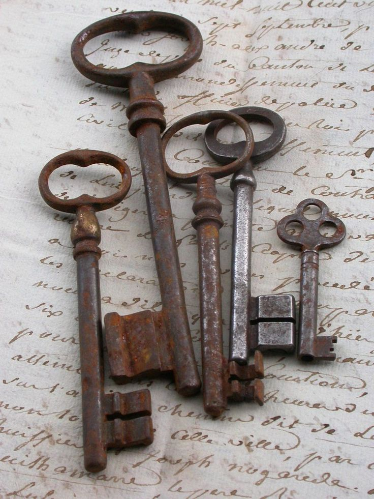 Lot Antique huge french Skeleton Key, antique patina  French Vintage Skeleton Key Pendant Paperweight flower heart shape vintage charms. $30.00, via Etsy.