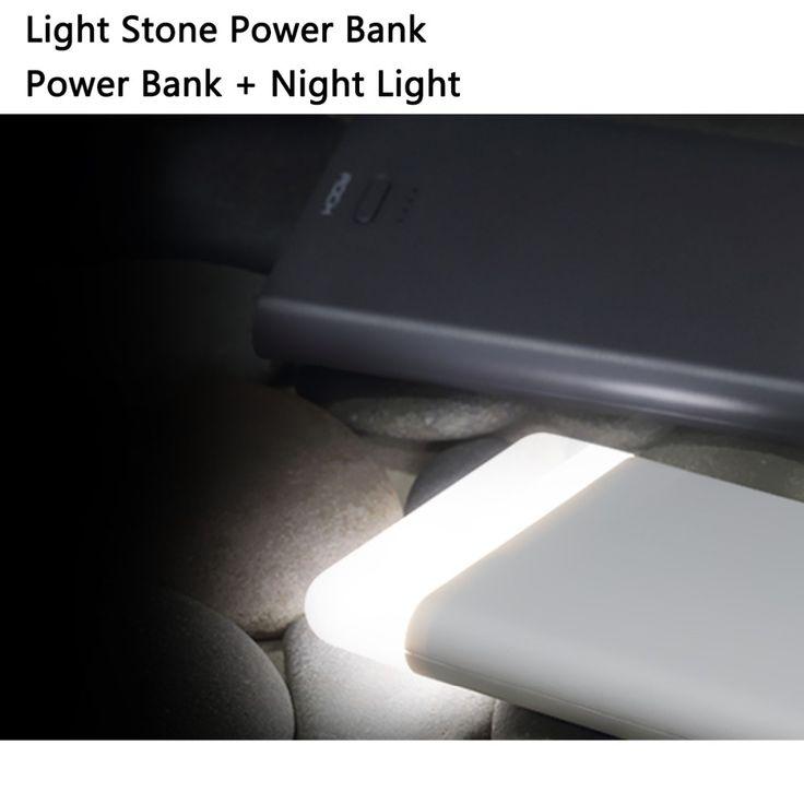 ROCK Light Power bank 8000mAh 14 LED Lighting Portable Charger Powerbank external battery for iPhone Huawei LG Meizu Cellphone | #PowerBankforHuawei