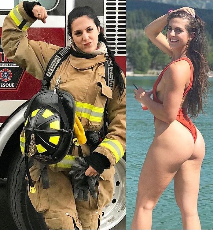 Real female firefighter nude, free high definition cumshot