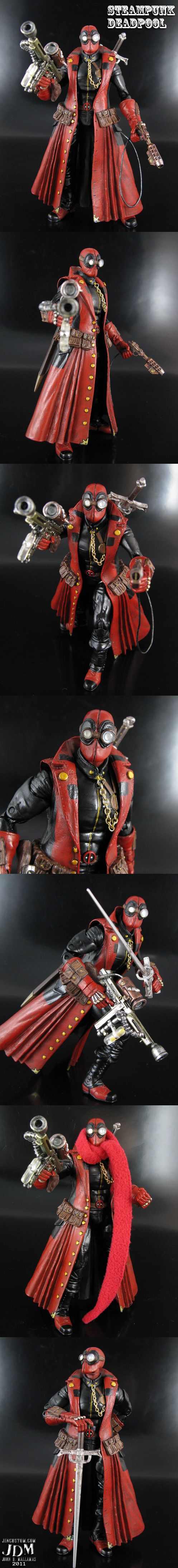 The Merc with a ray gun, Steampunk Deadpool by *Jin-Saotome on deviantART | Follow here http://pinterest.com/cakespinyoface/comics-comix-geekery/ for even more Comic Book Geekery-- original art, mashups and more!