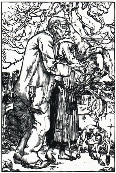 Stanis Dessy I Mendicanti, 1928, xilografia