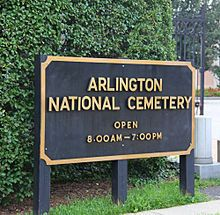 List of memorials and monuments at Arlington National Cemetery - Wikipedia, the free encyclopedia