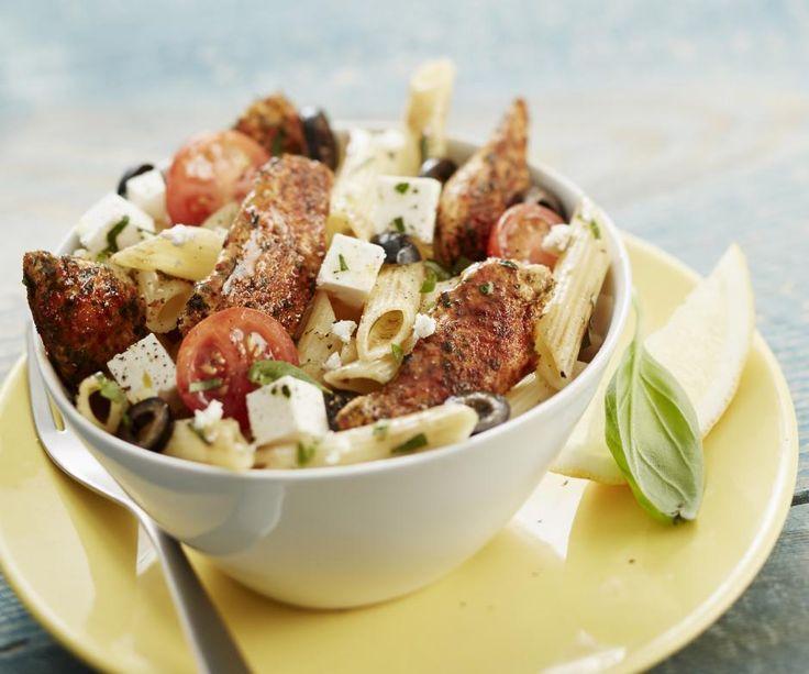 Salade de pâtes méditéranéenne au poulet