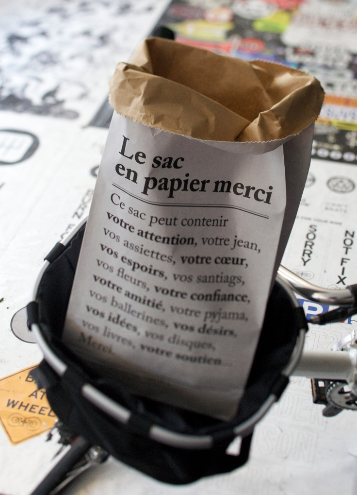 #mercishopparis le sac en papier #paperbag #merciparis