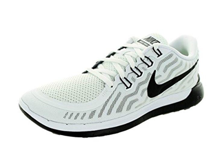 Nike Men's Free 5.0 White/Black Running Shoe 10 Men US - Brought to you