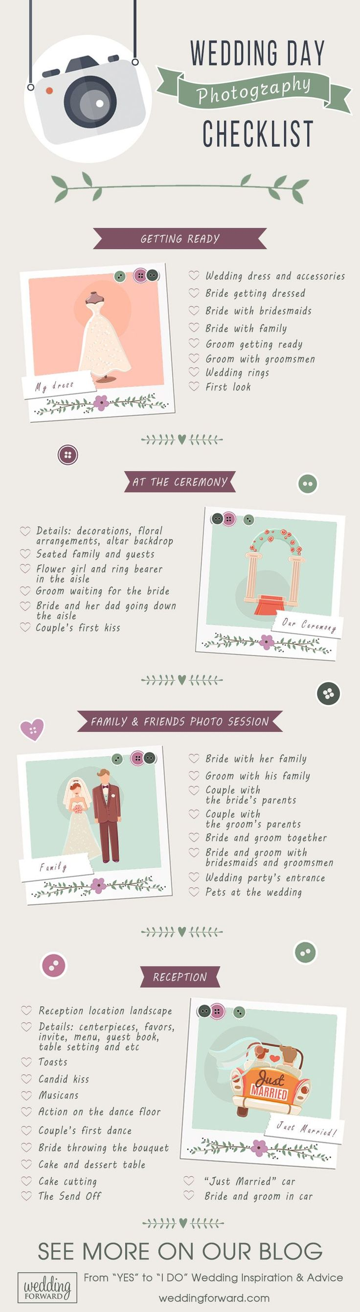 27 Must-Take Romantic Photos On Your Wedding Day ❤️ Fanny, beautiful, charming, touching moments...all of them have to take place in your wedding album to say all story. Use this wedding day photo checklist that don't forget anything. See more: http://www.weddingforward.com/romantic-photos-wedding-day/ #wedding #photos #checklist