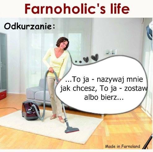 Ewa Farna MEME Ulubiona rzecz odkurzanie Farnoholic