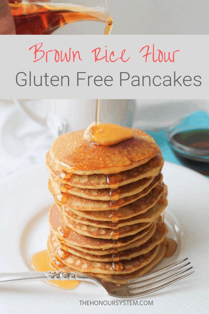 Brown Rice Flour Pancakes – Gluten Free – The Hono…