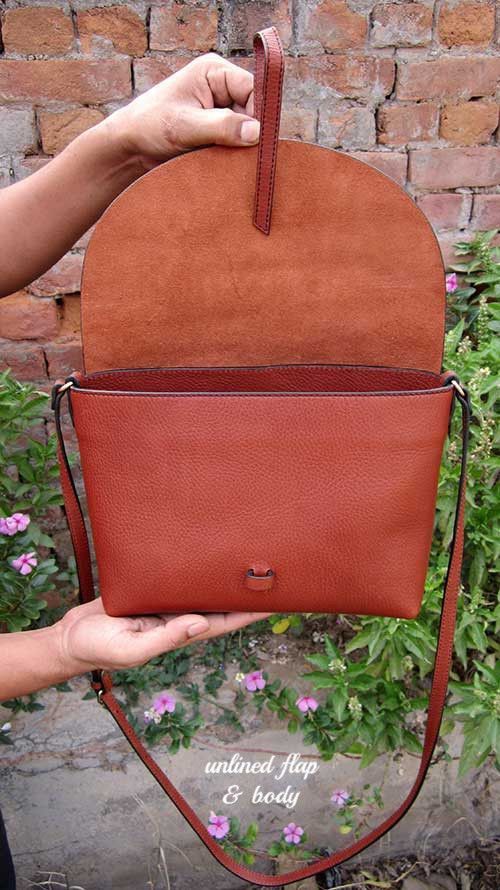 Gingerbread Big Stella, Chiaroscuro, India, Pure Leather, Handbag, Bag, Workshop Made, Leather, Bags, Handmade, Artisanal, Leather Work, Leather Workshop, Fashion, Women's Fashion, Women's Accessories, Accessories, Handcrafted, Made In India, Chiaroscuro Bags - 2
