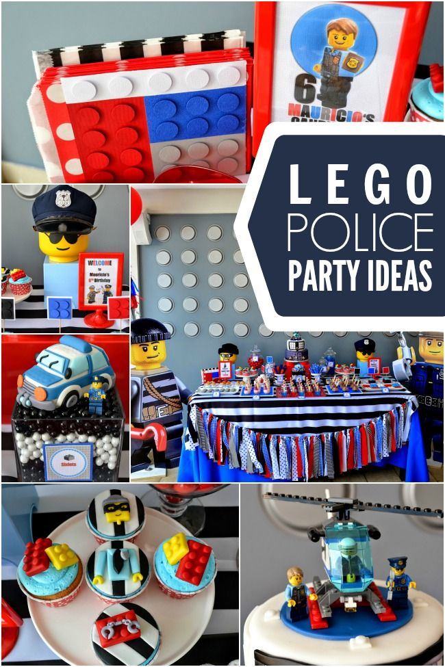 A Police Themed Boy's Lego Birthday Party - Spaceships and Laser Beams