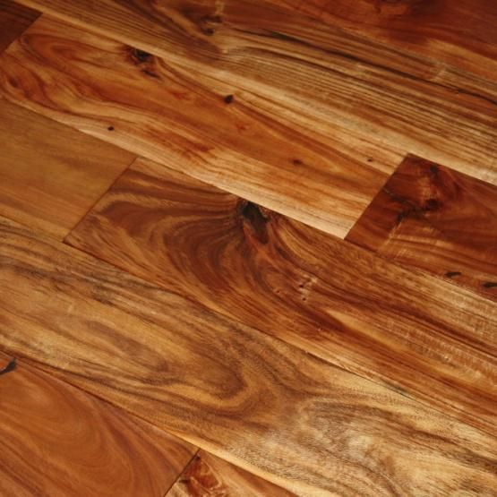 "Slug Trail On Living Room Carpet: Acacia Natural SOLID 3/4 X 4-3/4"" Handscraped Tobacco Road"