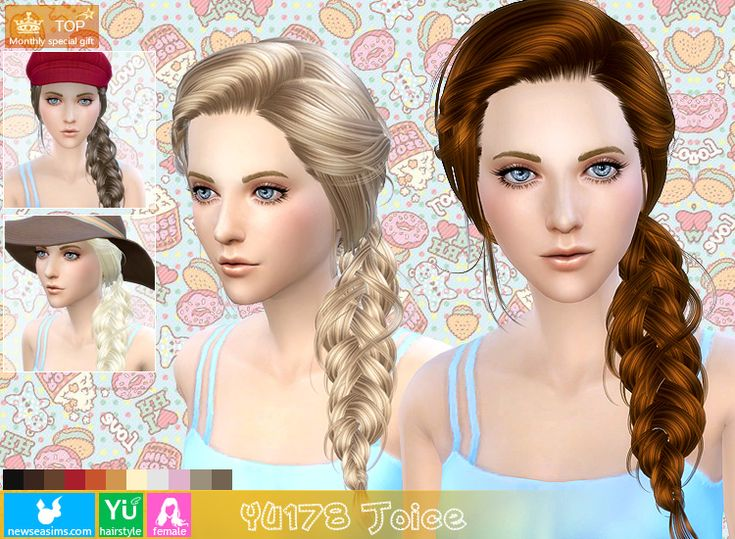Hairstyles Braids Download: Sims 4 Hairs ~ NewSea: Braided Hairstyle