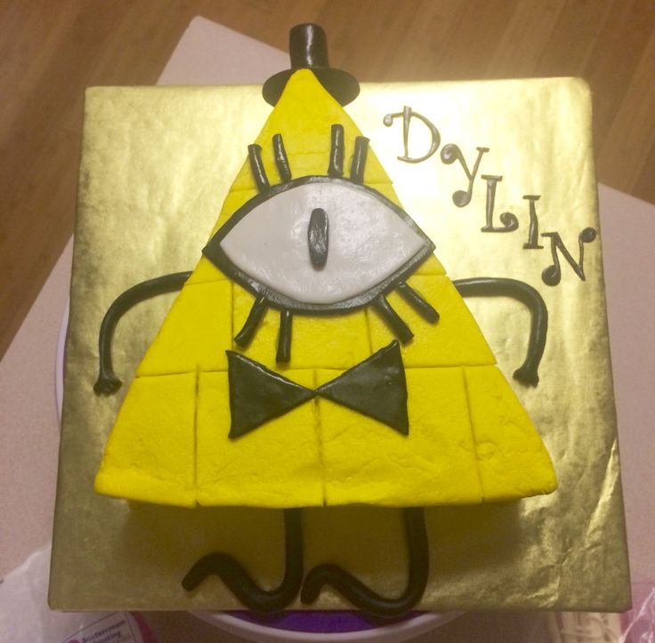 Gravity Falls Bill Cipher Cake My Cakes Pinterest