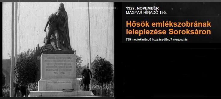 Soroksár - Hősök szobra az első világháborúban elesett katonák emlékére